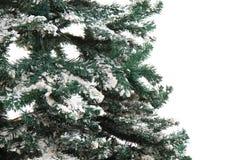 Plastikweihnachtsbaum lokalisiert Lizenzfreie Stockbilder