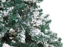 Plastikweihnachtsbaum lokalisiert Lizenzfreies Stockfoto