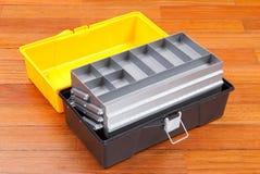 Plastikwerkzeugkasten Lizenzfreies Stockfoto