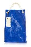 Plastikwiederverwendung der blauen Tasche Lizenzfreies Stockfoto
