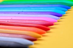 Plastikzeichenstifte Stockbild