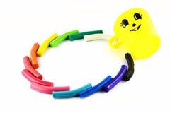 Plastilina colourful dentro  Fotografie Stock Libere da Diritti