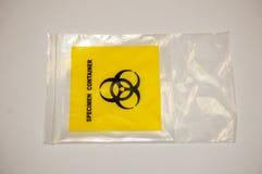 Plastique de récipient de spécimen Photo stock