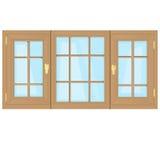 Plastique de Windows Photographie stock