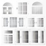 Plastique de Windows Photo stock
