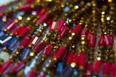 Plastique multicolore ethnique de collier Photo stock