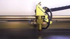 Plastique noir de coupe de machine de gravure de laser avec le laser rouge La machine ont la tête d'or banque de vidéos