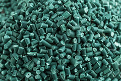 Plastiques réutilisés par vert Image stock
