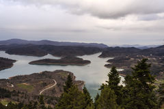Plastiras lake in central Greece Stock Images