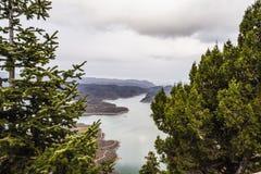 Plastiras lake in central Greece Royalty Free Stock Photo