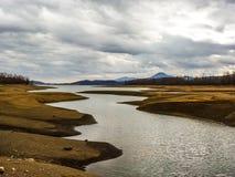 Plastiras lake in central Greece Stock Image