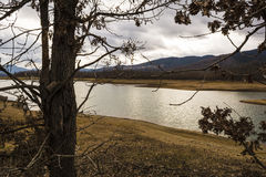 Plastiras lake in central Greece Stock Photography