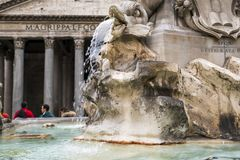Plastisch detail in Piazza del Pantheon, in Rome, Italië Royalty-vrije Stock Foto
