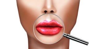 Plastische chirurgie en kosmetische verbeterings medische gezondheid en schoonheid Royalty-vrije Illustratie