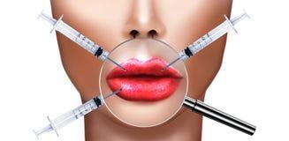 Plastische chirurgie en kosmetische verbeterings medische gezondheid en schoonheid Vector Illustratie