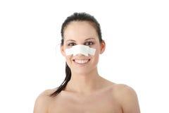 Plastische chirurgie - neus Stock Afbeelding