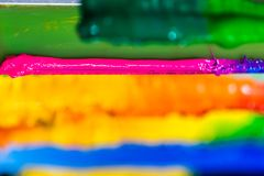 colorful of ink for print tee shirt Stock Photography