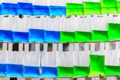 Plastpåse i färgrikt Royaltyfria Bilder