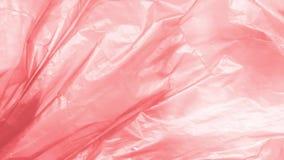 Plastp?se med avfall utomhus Textur i vind lager videofilmer