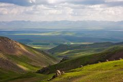 Platåängen i bergen royaltyfria bilder