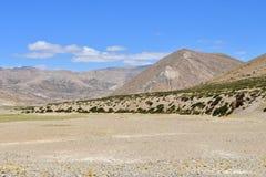 Platå av skället nära den centrala punkten av Kailas Mandala på en höjd av mer än 4000 meter i solig dag Tibet Kina fotografering för bildbyråer