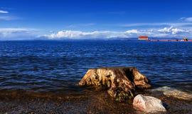 Platå sjöar - Qinghai sjö Fotografering för Bildbyråer