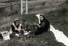 Platô de Ayder, mulher de Ayder, Camlihemsin, Rize, Turquia imagens de stock