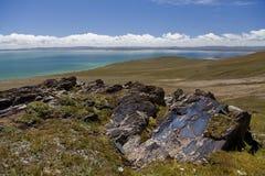 Platô de Qinghai - de Tibet fotografia de stock