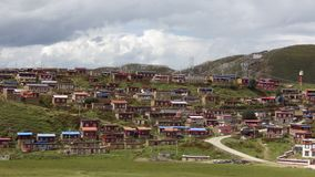 Platô de Tibetian, Serkyi Gyelgo, Tagong imagem de stock