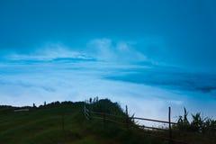 Platô e a nuvem. Fotografia de Stock