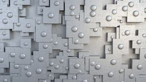 Plat abstrait avec des rivets Illustration Stock