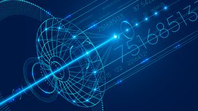 Plat abstrait de satellite de télécommunications Fond abstrait de communication numérique de technologie illustration stock