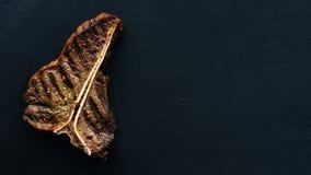 Plat américain de viande de qualité de barbecue de côtelette de porc Photographie stock libre de droits