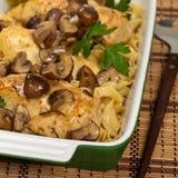 Plat américain italien populaire, poulet de vin de Marsala Photo libre de droits