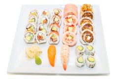 Plat assorti de sushi Image libre de droits