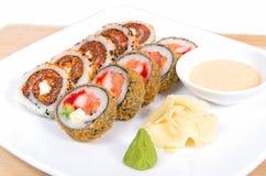 Plat assorti de sushi Photos stock