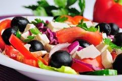 Plat avec de la salade photo stock