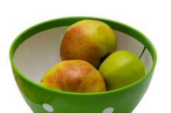 Plat avec des pommes Photo stock