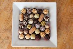 Plat avec des sucreries Photo stock