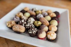 Plat avec des sucreries Photo libre de droits