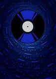 Plat avec des symboles musicaux Photographie stock