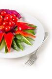 Plat avec les légumes découpés en tranches Photographie stock libre de droits