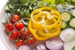 Plat avec les légumes frais Photos libres de droits
