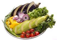 Plat avec les légumes frais Image libre de droits
