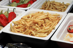 Plat avec les pommes de terre frites Photos libres de droits