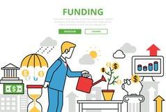Plat bannière vecteur de placement d'investissement d'infographics de schéma