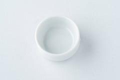 Plat blanc de porcelaine Image libre de droits
