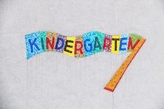 Plat coloré de jardin d'enfants Photo libre de droits