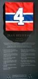 Plat commémoratif 4 de Jean Beliveau Image stock