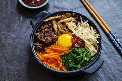 Plat coréen de bibimbap photo stock